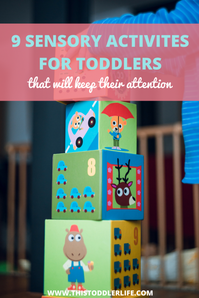 Sensory activities for toddlers that will keep you child's attention.