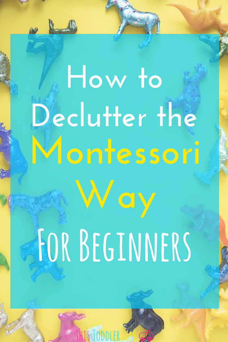 How to declutter the Montessori way. Learn how to go from overwhelmed and cluttered to a prepared Montessori environment.
