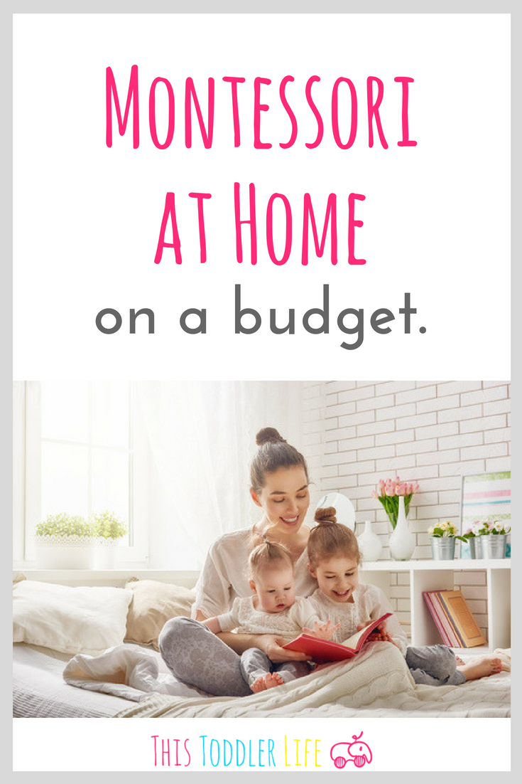 Montessori often gets a bad wrap about being too expensive, but it's not true! And I'm going to prove it to you today by telling you how to use Montessori at home on a budget!