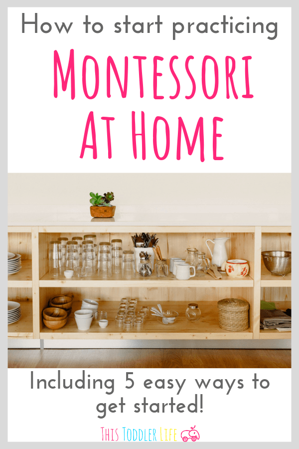 If you're new to Montessori and want some actionable steps to get you started practicing Montessori at home then check out these 5 easy ways to get started!