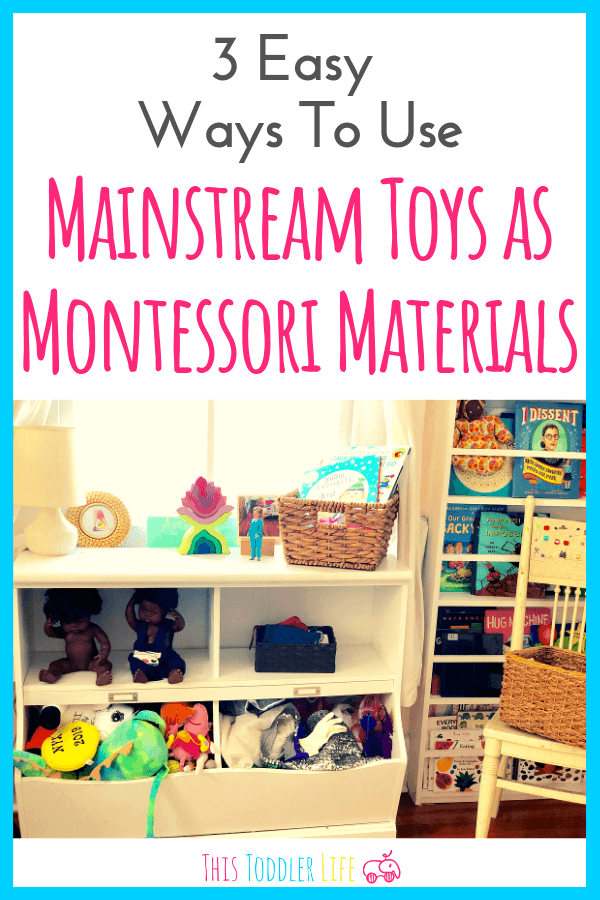Want to use mainstream toys as Montessori materials? No need to throw out all your toys use these 3 easy ways to create montessori works from regular toys.