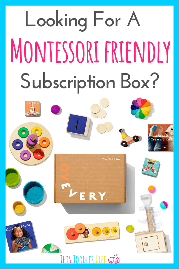 Toddler subscription box