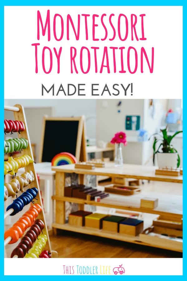 Rotación de juguetes Montessori fácil